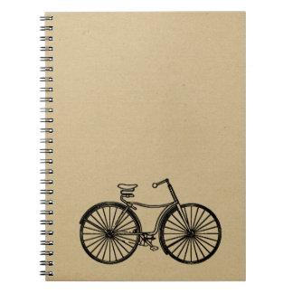 bike ink stamped journal