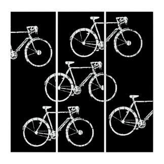 bike-inspired, graphic & cool b&w bicycles triptych