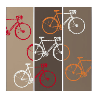 bike-inspired, graphic & cool bicycles triptych