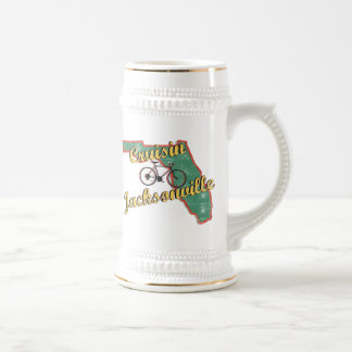 Bike Jacksonville Bicycle Florida Beer Stein