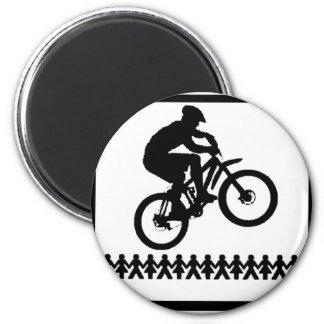 Bike Jump Started 2 Inch Round Magnet