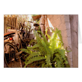 Bike Lane in The Light Greeting Card