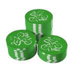 Bike las fichas de póker de encargo juego de fichas de póquer