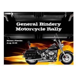 Bike Leather Burner Postcard