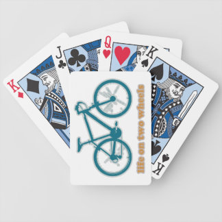 bike life . sports bicycle playing cards