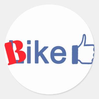 Bike Like Classic Round Sticker