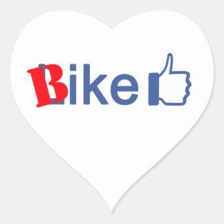 Bike Like Heart Sticker