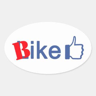 Bike Like Oval Sticker