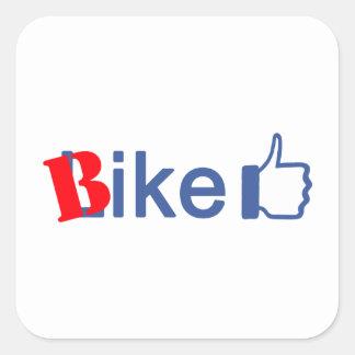 Bike Like Square Sticker