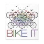 ¡Bike lo - las palabras con 10 bicicletas colorida Libretas Para Notas