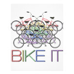 ¡Bike lo - las palabras con 10 bicicletas colorida Plantilla De Membrete