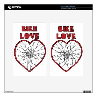 Bike Love Bent Wheel (black spokes) Kindle Fire Skins