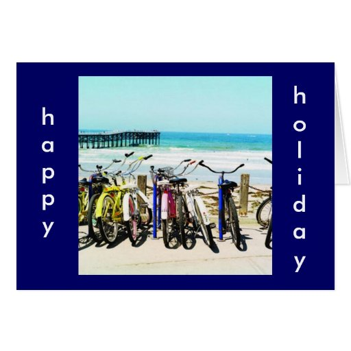 BIKE LOVER'S HOLIDAY GREETING CARD