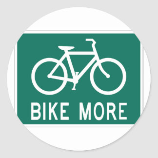 Bike más pegatina redonda