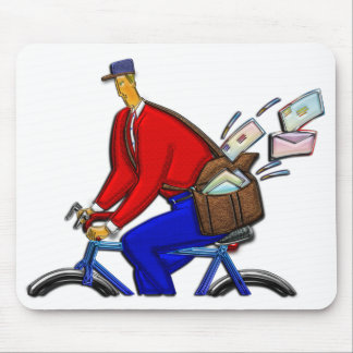 Bike Messenger AKA Special Delivery Mouse Pad