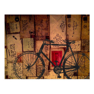 Bike Messenger postcasrd Postcard
