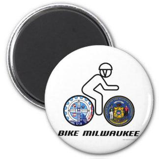 Bike Milwaukee 2 Inch Round Magnet