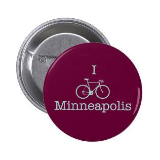 Bike Minneapolis Pin Redondo De 2 Pulgadas