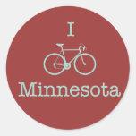 Bike Minnesota Etiquetas Redondas