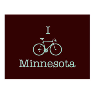 Bike Minnesota Tarjeta Postal