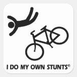 Bike mis propios trucos calcomania cuadradas personalizadas