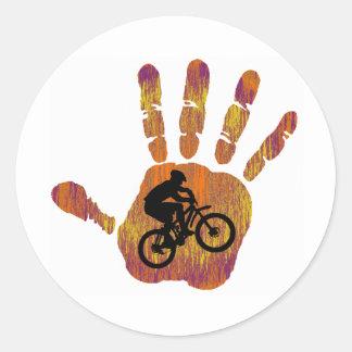 Bike Mojave Style Classic Round Sticker