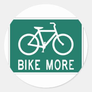 Bike More Classic Round Sticker