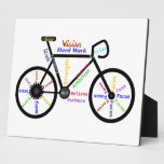 Bike Motivational Words for Cycle, Hobby Sport Fan Plaque
