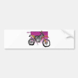 bike motorcross  offroad bumper sticker