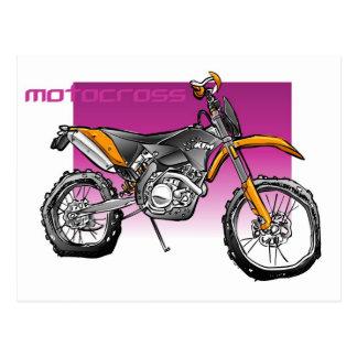 bike motorcross  offroad postcard