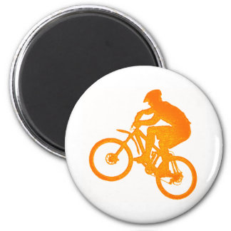 Bike Mountain Times 2 Inch Round Magnet
