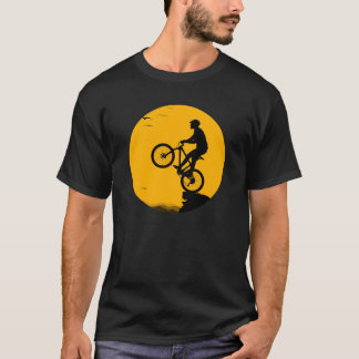 Bike (MTB) silhouette like a horse on the cliff T-Shirt