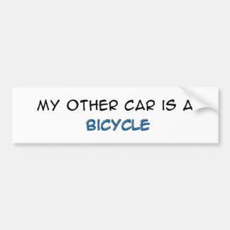 Bike - My other car is a bike Car Bumper Sticker