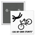 Bike My Own Stunts 2 Inch Square Button