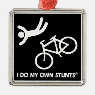 Bike My Own Stunts Metal Ornament