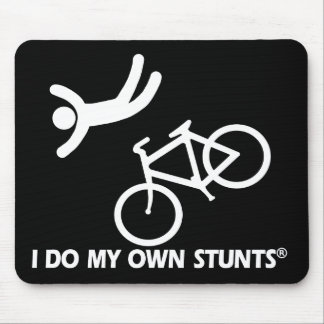 Bike My Own Stunts Mouse Pads