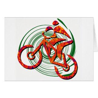 Bike Navigating Pines Card