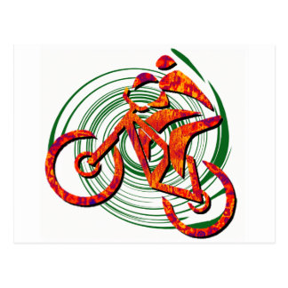 Bike Navigating Pines Postcard