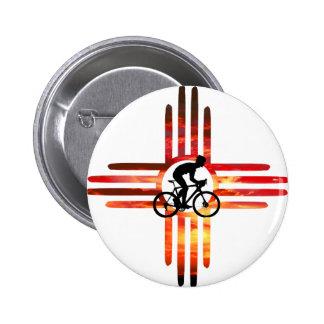 Bike New Mexico Pinback Button
