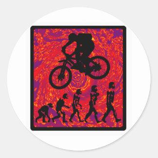bike New shocker Classic Round Sticker
