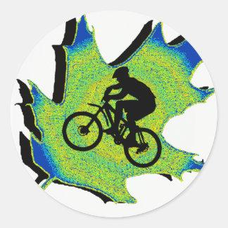 Bike New Wellington Round Stickers