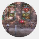Bike - NY - Chelsea - The delivery bike Sticker