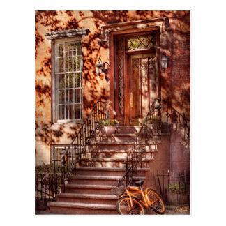 Bike - NY - Greenwich Village - An orange bike Postcard