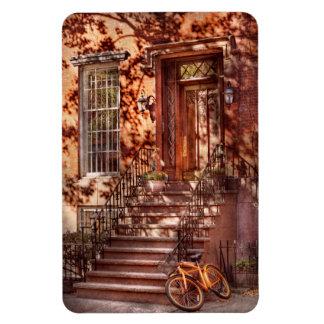 Bike - NY - Greenwich Village - An orange bike Vinyl Magnet