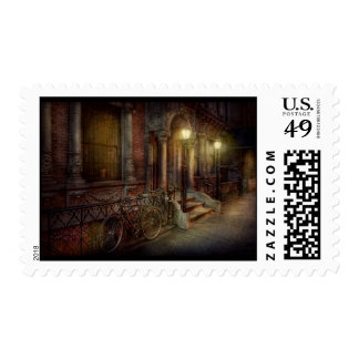 Bike - NY - Greenwich Village - In the village Postage Stamp
