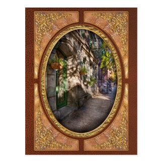 Bike - NY - Greenwich Village - The green district Postcard