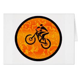Bike Old Schooler Card