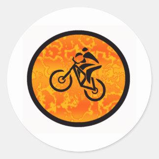 Bike Old Schooler Classic Round Sticker