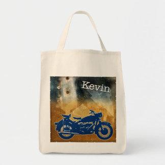 Bike on Metal Tote Bag