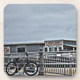 Bike On The Boardwalk by Shirley Taylor Coaster